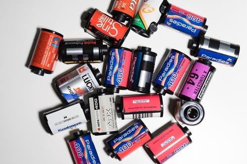 Assorted Color and Brands Of Roll Films