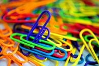 paperclips, blur, colorful