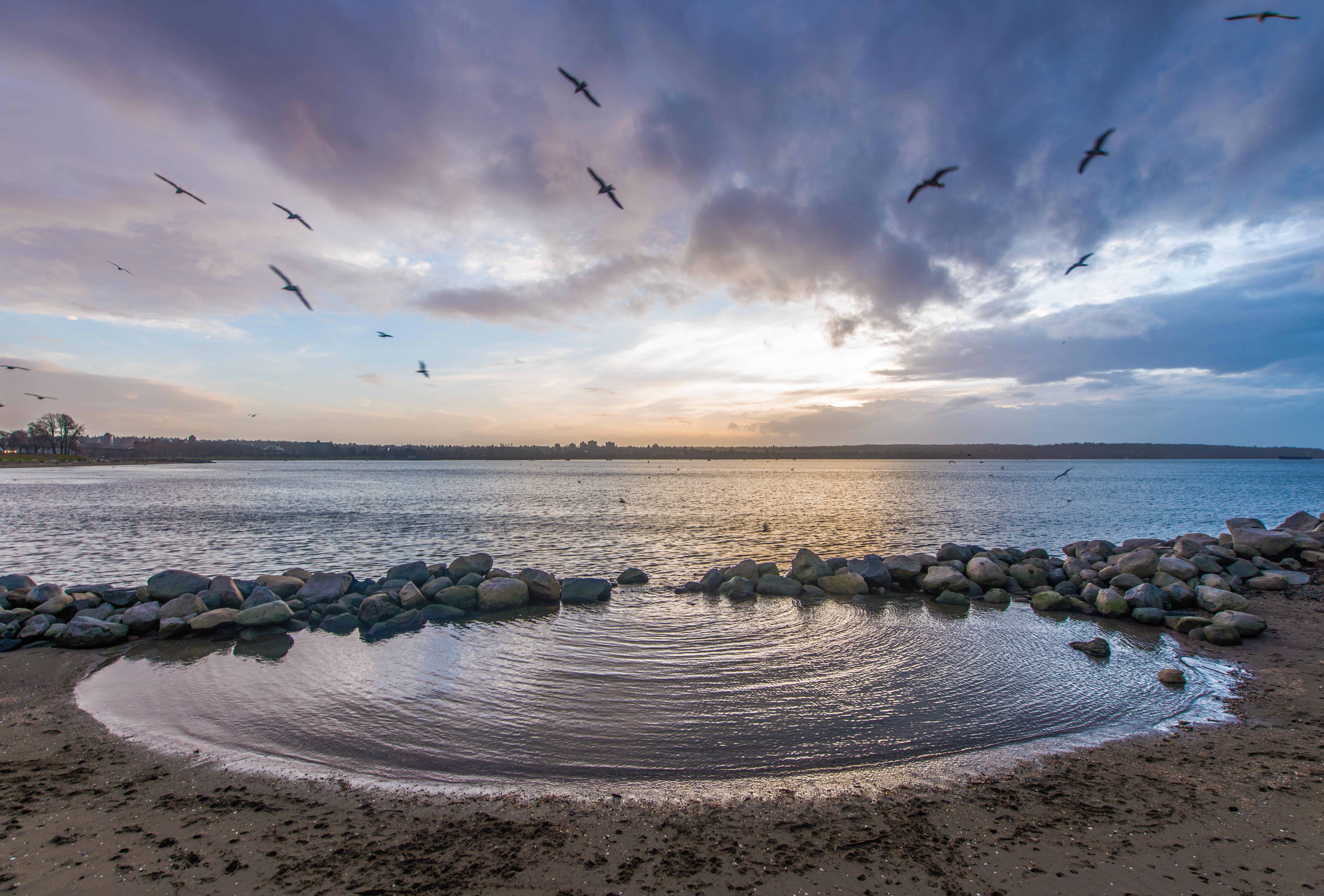 คลังภาพถ่ายฟรี ของ การสะท้อน, ชายหาด, ดวงอาทิตย์, ตะวันลับฟ้า