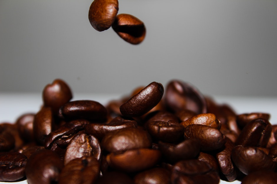 coffee, coffee beans, falling