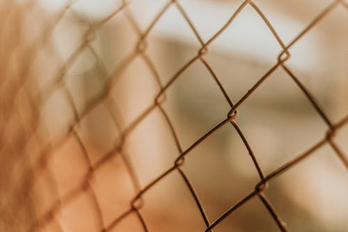 Closeup of chain link fence