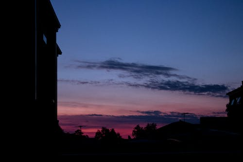 Free stock photo of at home, beautiful sunset, blue sky
