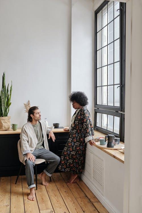 Multiethnic Couple Talking