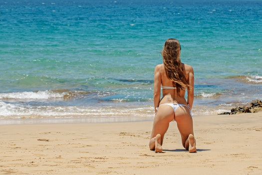 Free stock photo of beach, vacation, bikini, woman
