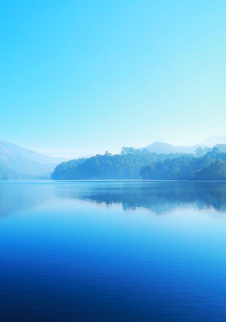 Blue lake nature water