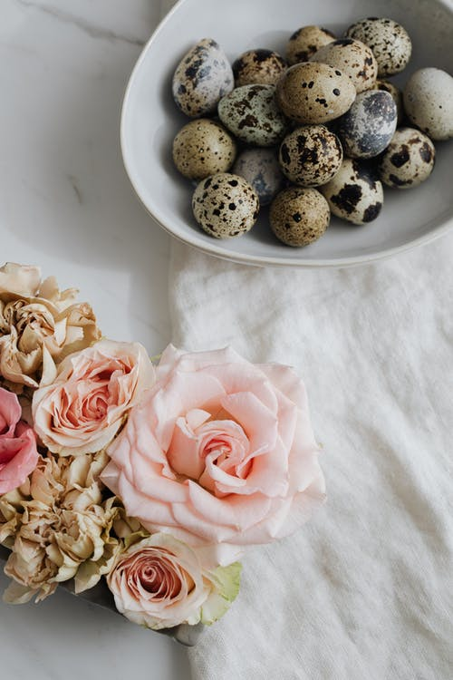 Quail Eggs and Roses