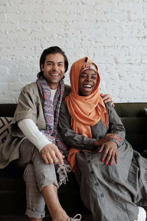 Portrait of Muslim Couple Laughing