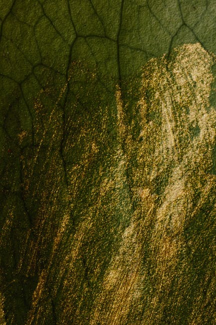 Green rock with gold glitters