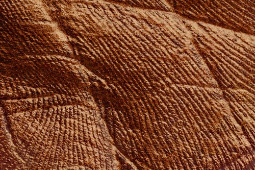 Textured parget surface of brown color