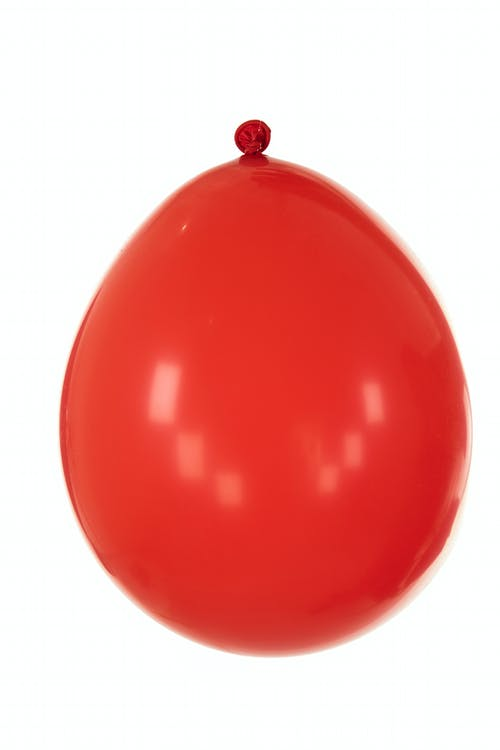 Red Balloon With White Background