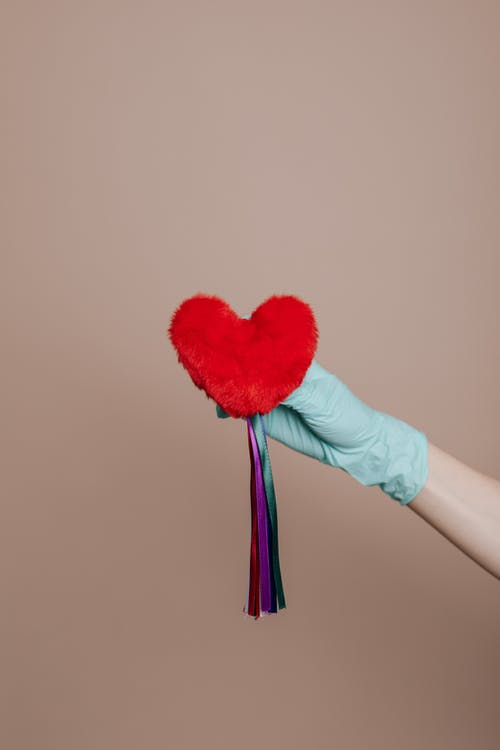 Red Heart with Colorful Strings