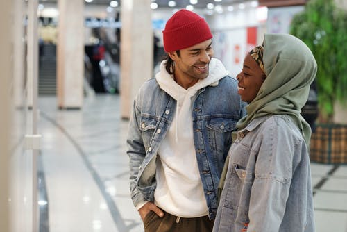 Muslim Couple in Shopping Mall