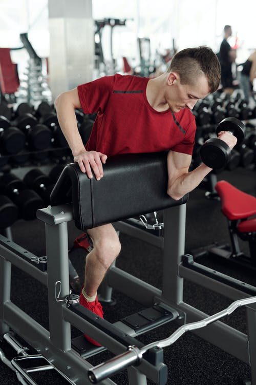 Photo Of Man Lifting Dumbell
