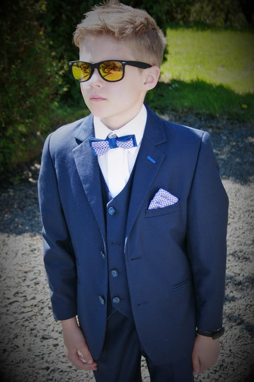 Free stock photo of boy in a suit, Little Cool dude
