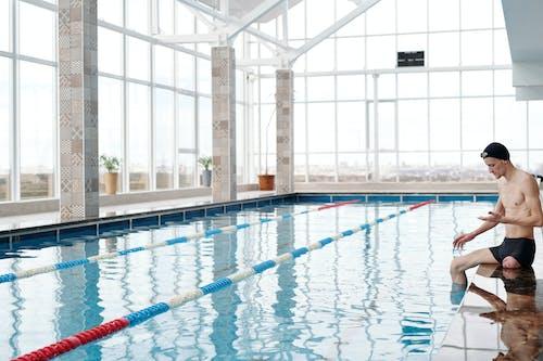 Imagine de stoc gratuită din agrement, amputat, în interior, înotător