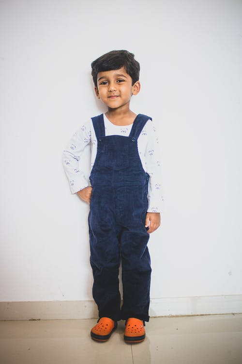 Photo Of Boy Wearing Denim Jumpers