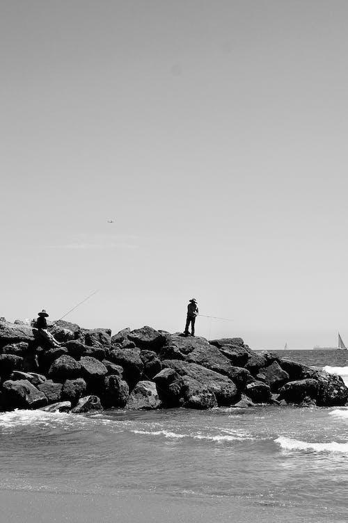 Monochrome Photo Of Seaside