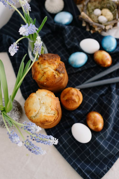 Photo Of Muffins Beside Flowers