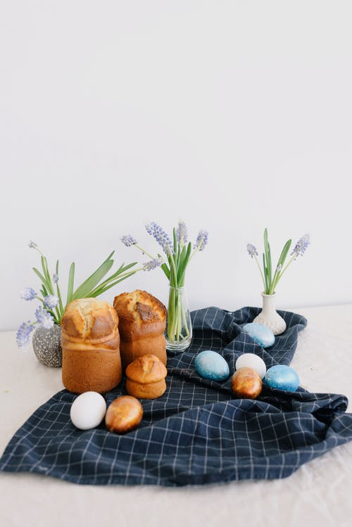 Photo Of Muffins On Top Of Blue Fabric