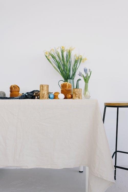 Fotos de stock gratuitas de decoración, flores, Fondo blanco, huevos de Pascua
