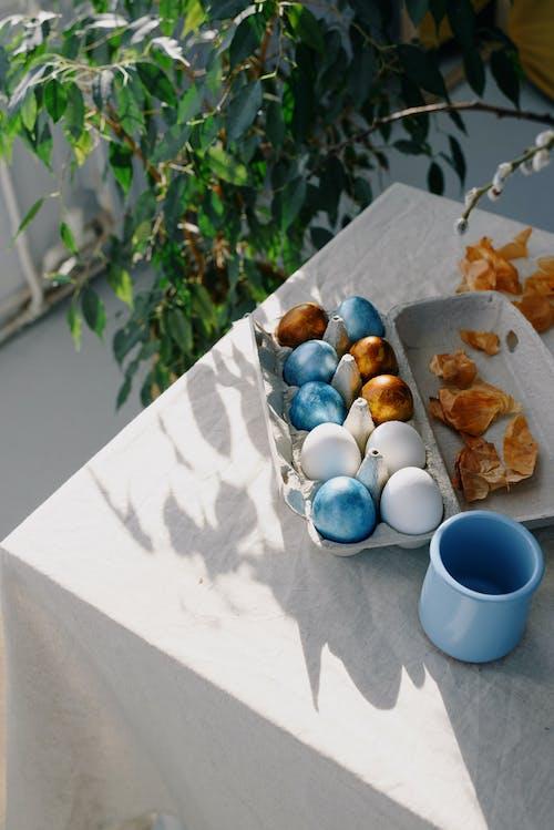 Easter Eggs on an Egg Carton