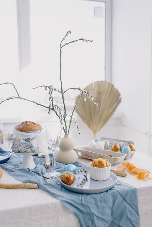 Table With Easter Decorations
