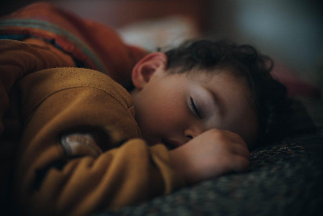 Close-Up Photo Of Sleeping Baby