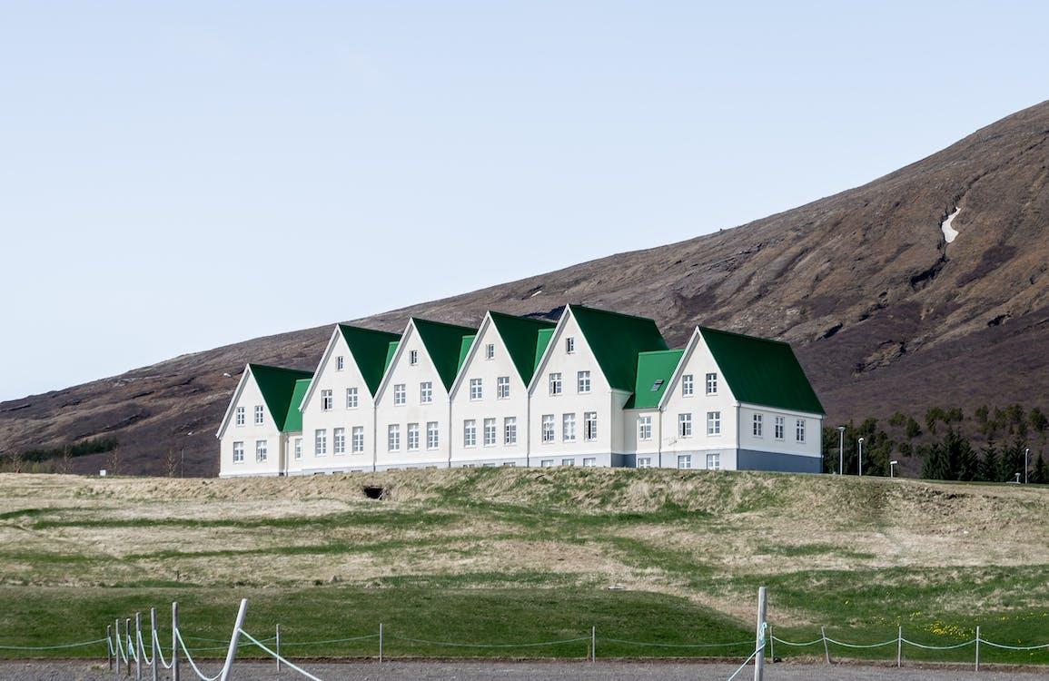 casas, casas blancas, cielo azul