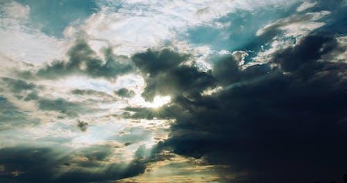 ドラマチック, ローアングルショット, 光, 夕方の無料の写真素材
