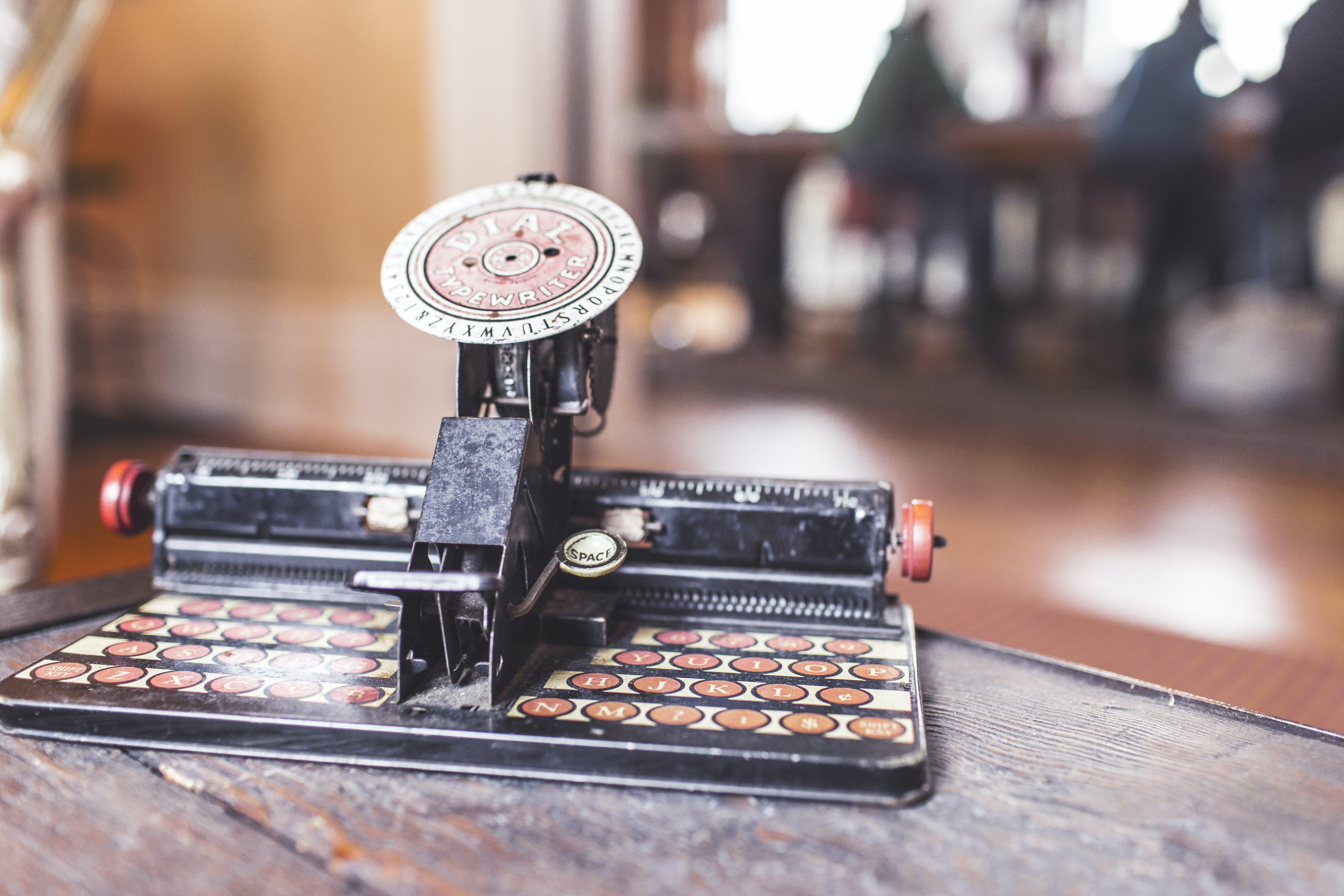 antikk, skrivemaskin, tastatur