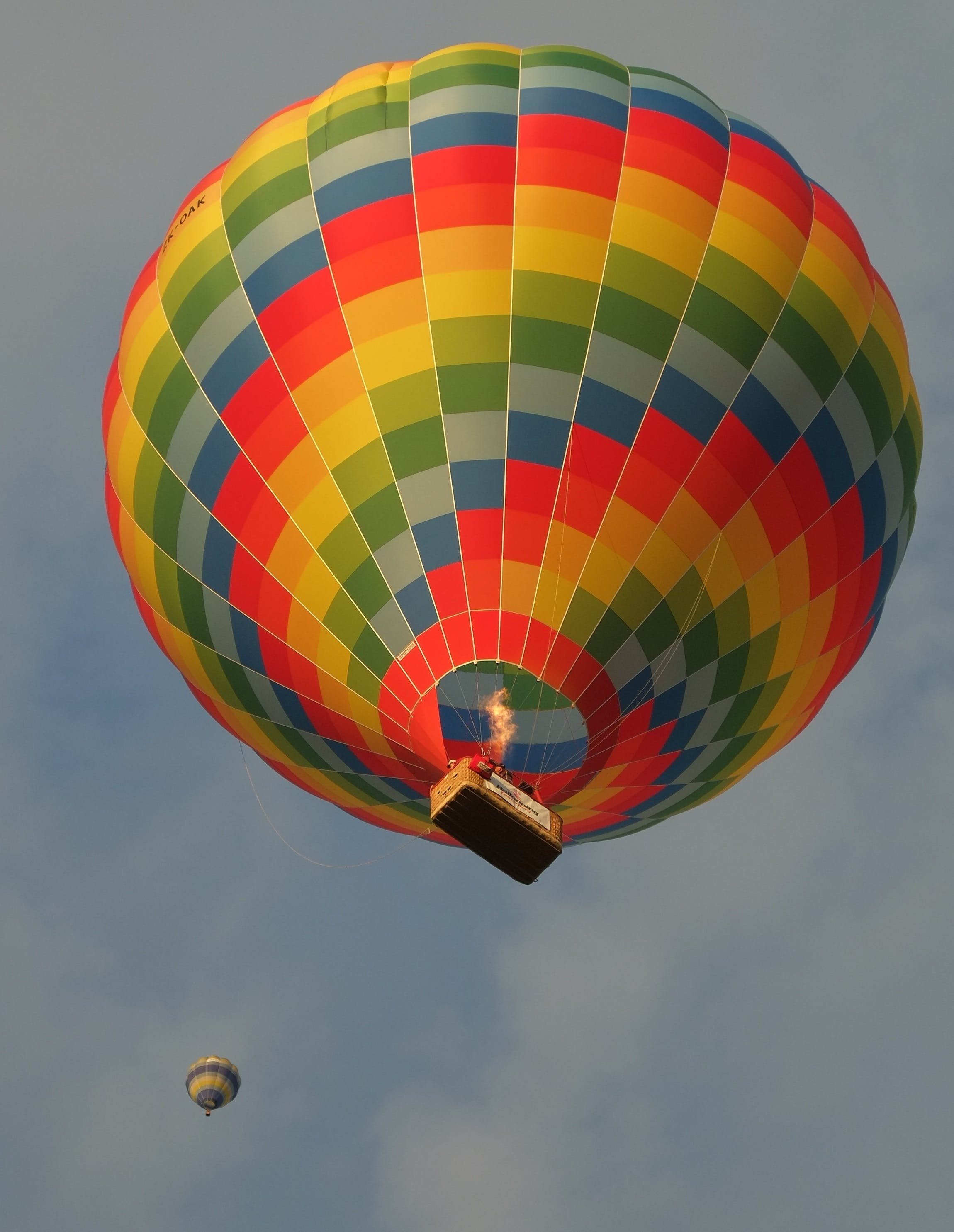 Multicolored Hot Air Balloon