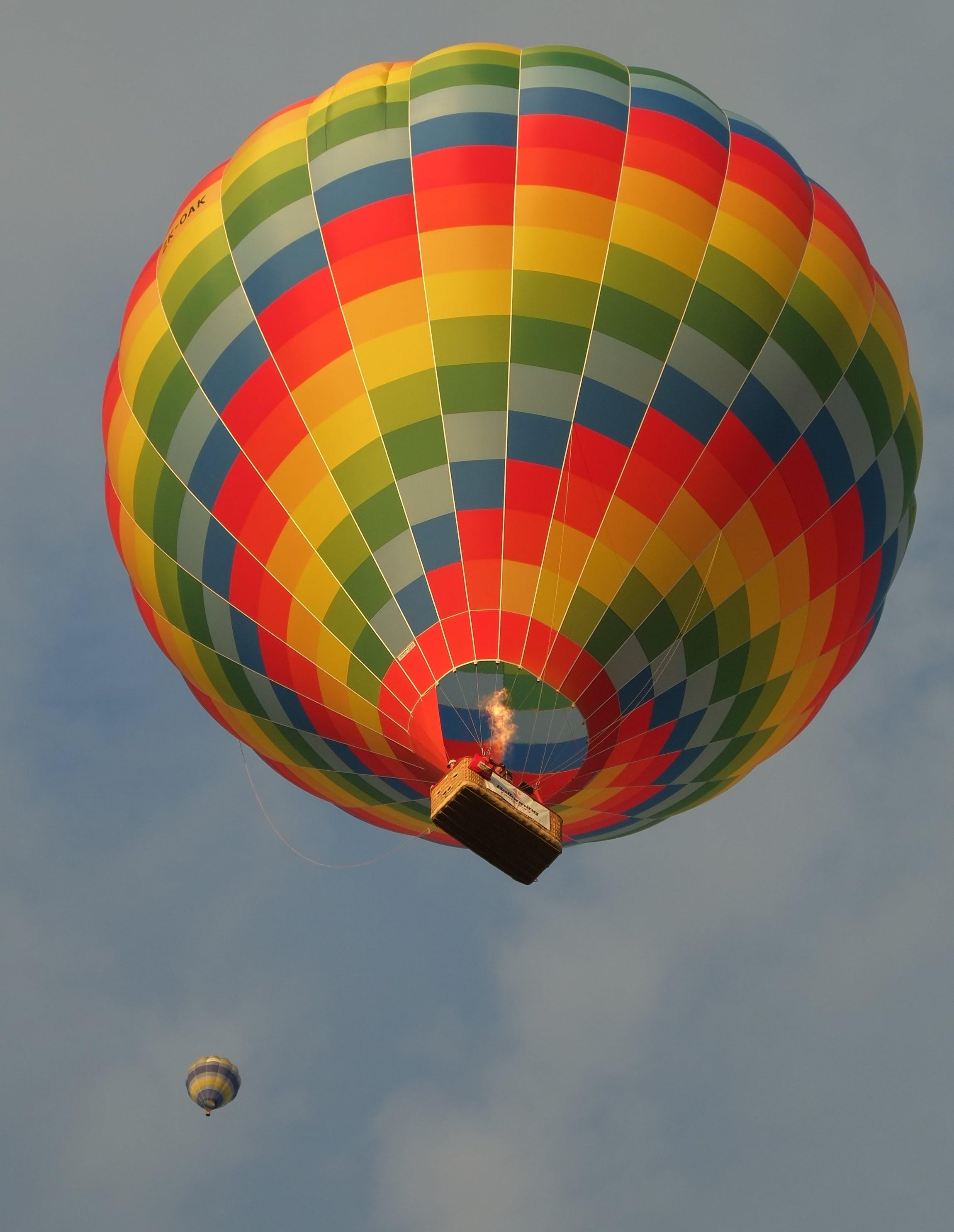 Kostenloses Stock Foto zu ballons, bunt, heißluftballons, himmel