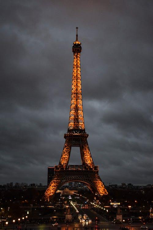 Ilmainen kuvapankkikuva tunnisteilla arkkitehtuuri, eiffel, eiffel-torni, ilta
