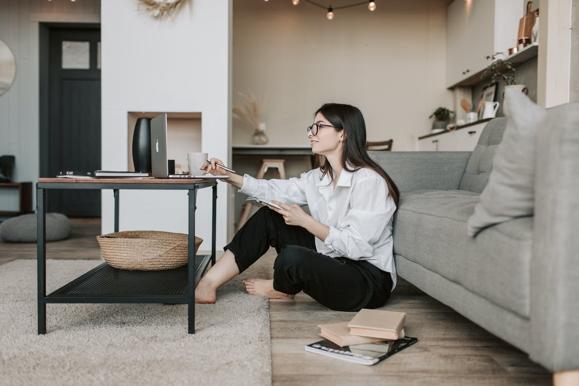 Woman Working From Home