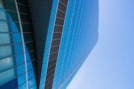 blue, building, glass