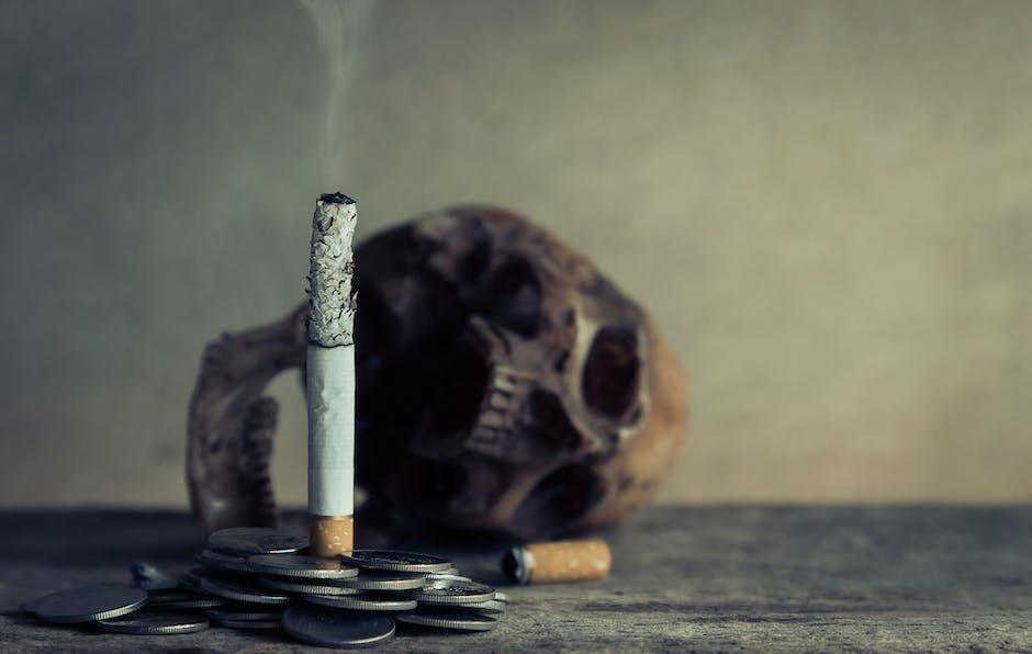 burning, cigarette, coin