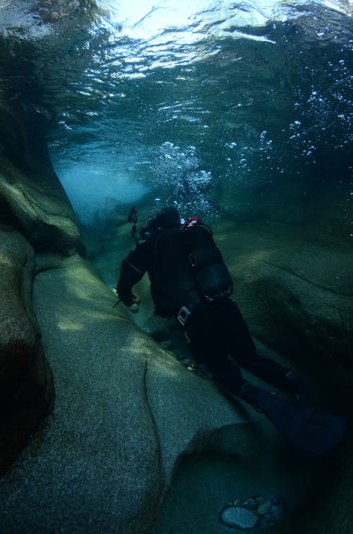Photo Of Diver Underwater