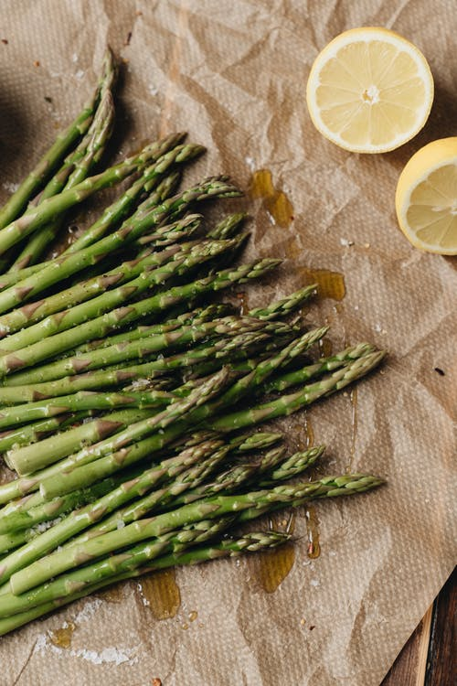 Photo Of Asparagus Near Sliced Lemon