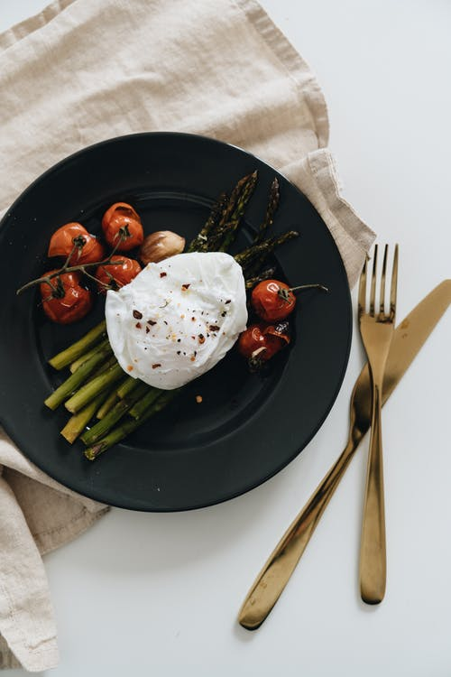 Photo Of Asparagus With Poached Egg