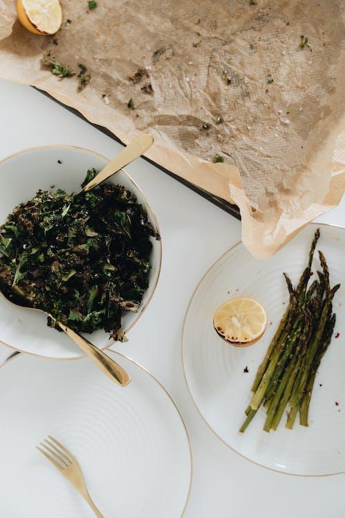 Kostenloses Stock Foto zu abendessen, besteck, essen, essensfotografie