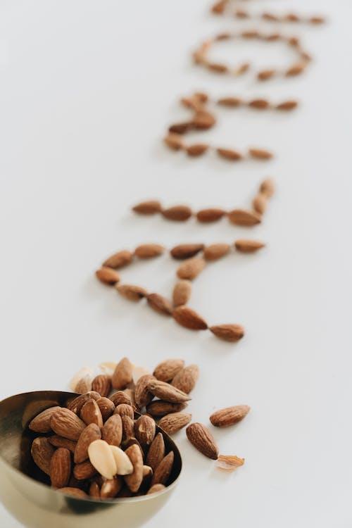 Close-Up Photo Of Almonds