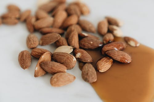 Close-Up Photo Of Almonds