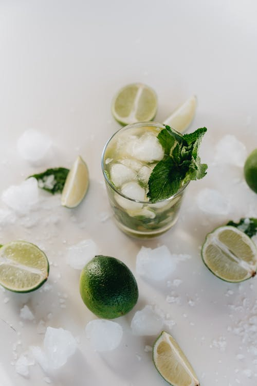 Photo Of Glass With Mint Leaves