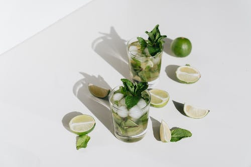 Photo Of Glasses With Mint Leaves