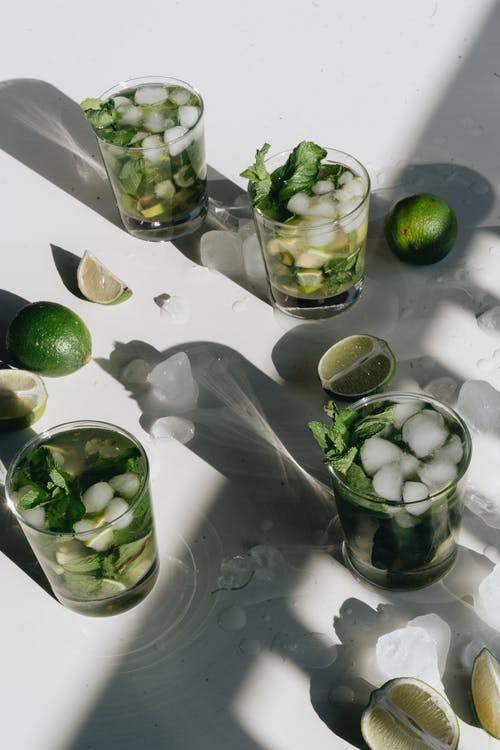 Photo Of Lime Beside Glasses