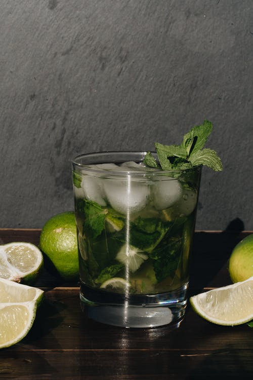 Photo Of Mojito On Wooden Table