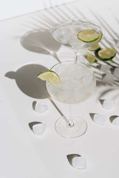 Photo Of Cocktail Glass With Lime