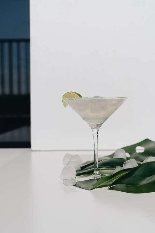 Photo Of Cocktail Glass Beside Leaf