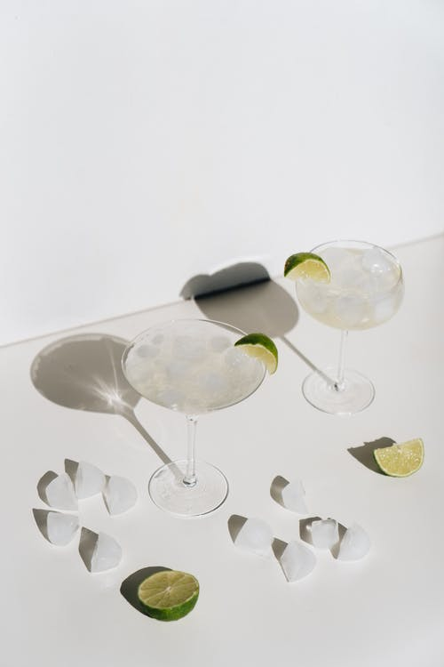 Photo Of Cocktail Glasses With Lime
