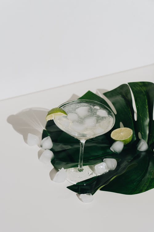 Photo Of Cocktail Glass On Leaf